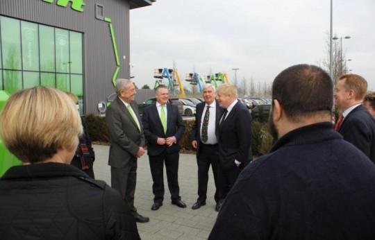 Foreign Secretary Boris Johnson Visits Niftylift