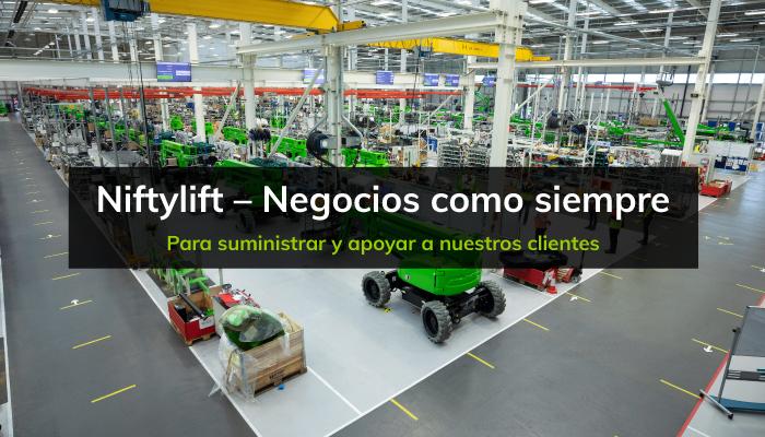 Niftylift – Negocios como siempre