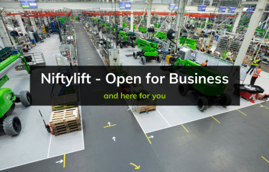 Niftylift is 'Open for Business' as Manufacturing Resumes