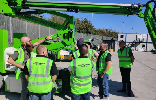 Training at Niftylift for Finnish Dealer