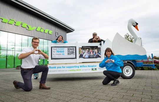 Niftylift Creates 'Sam the Swan' for Hospice
