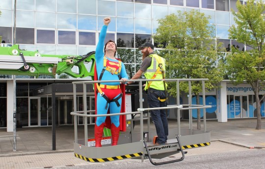 Niftylift Gives Superman a Lift