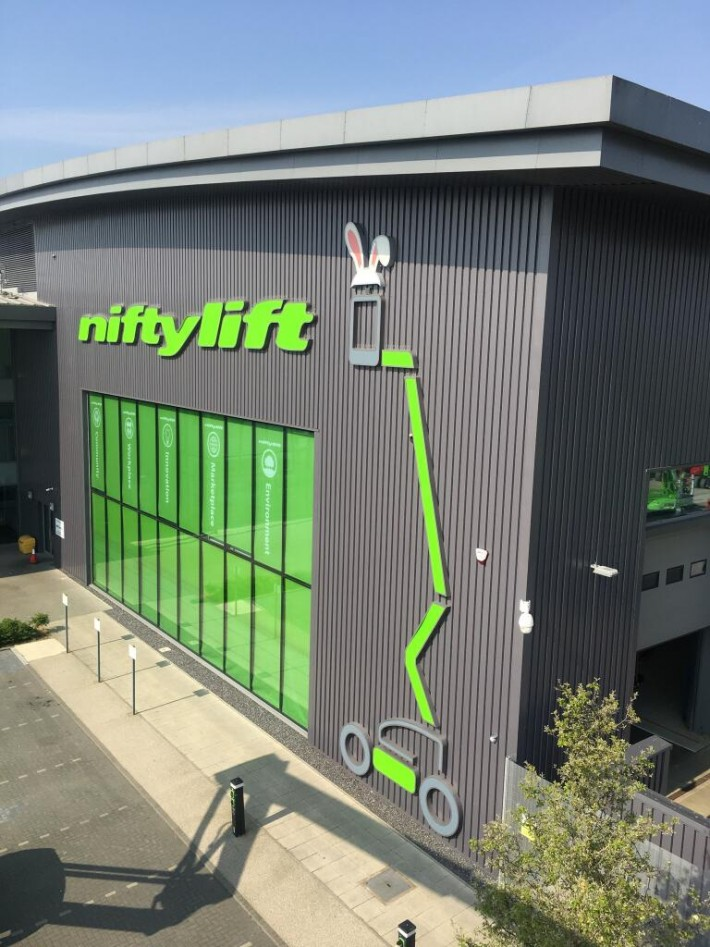 Niftylift Factory Sign Easter 2020